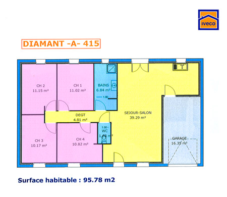 Plan de maison individuelle plain pied for Voyage sans supplement chambre individuelle
